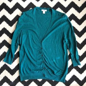 Dark Teal Green Cardigan